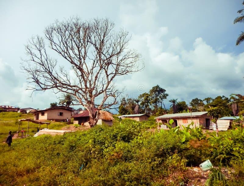 Pobreza e condições insalubres em África Libéria, África ocidental fotos de stock royalty free