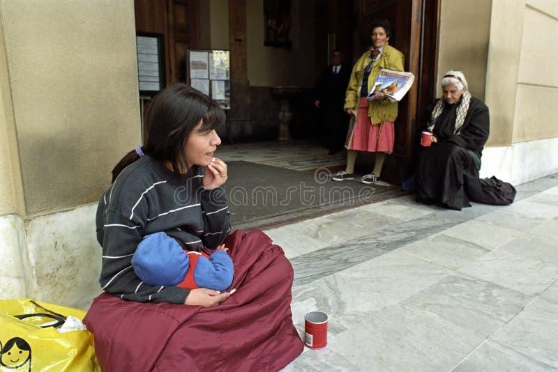 Pobreza entre mujeres en Buenos Aires, la Argentina fotografía de archivo libre de regalías