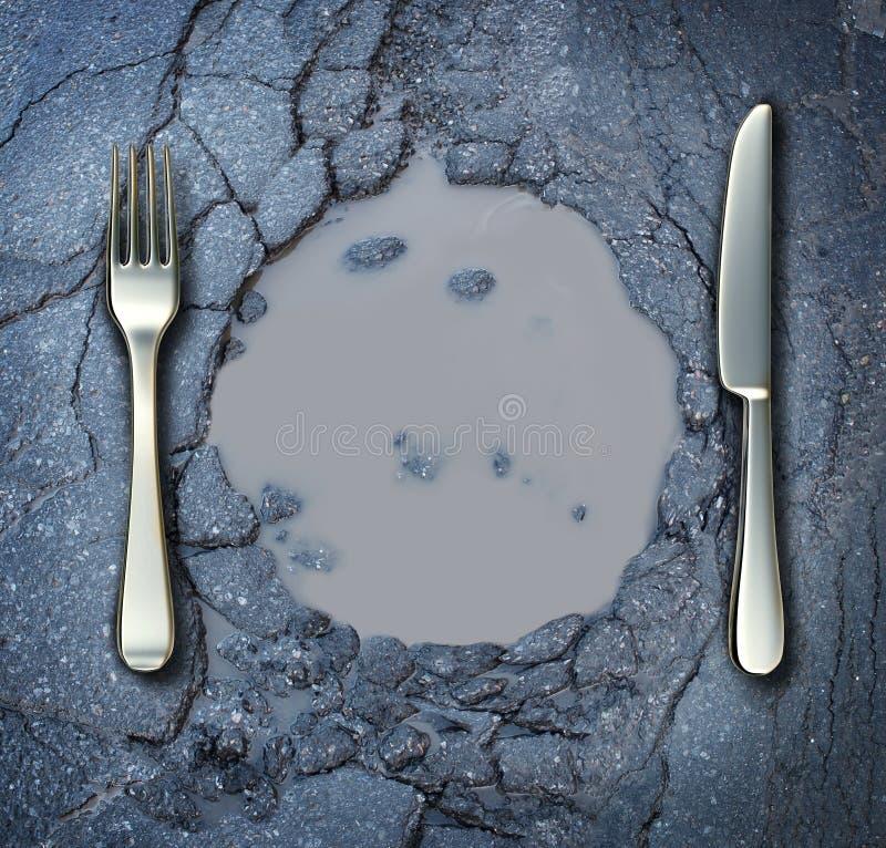 Pobreza y hambre ilustración del vector