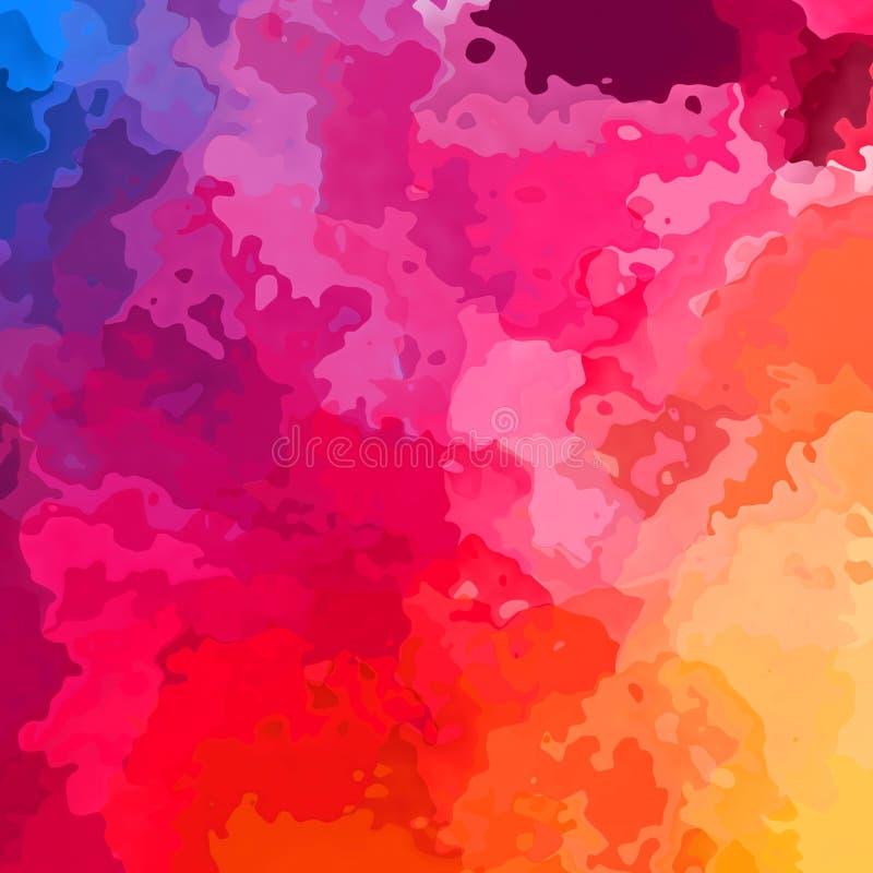 Pobrudzonego deseniowego tekstura kwadrata tła tęczy wibrujący gradient menchie, pomarańcze i żółty kolor błękitne, purpurowe, go royalty ilustracja