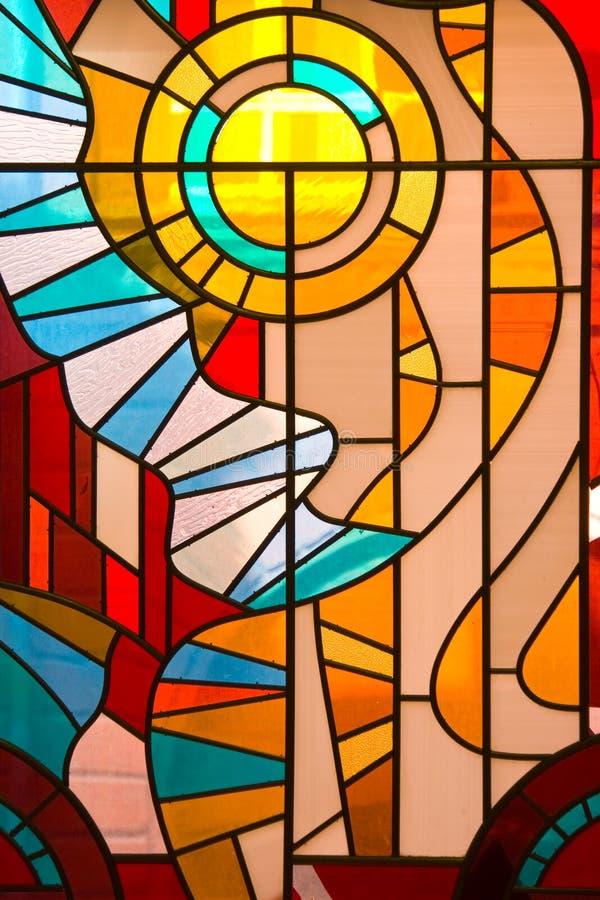 pobrudzony szkła okno zdjęcie royalty free