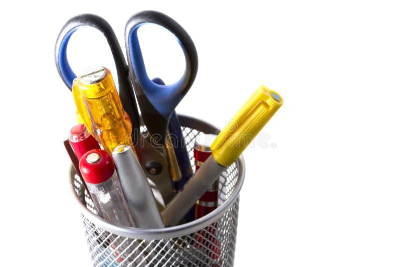 Pobyt organizujący - biur narzędzia zdjęcia stock