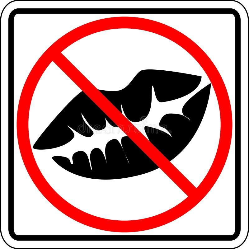 pocałować zakazanego na znak ilustracja wektor