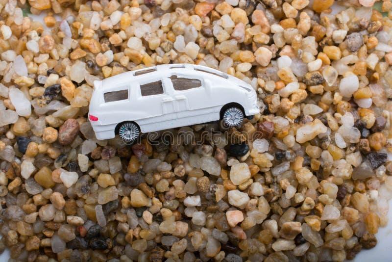 Poca automobile di modello del giocattolo in vista fotografie stock libere da diritti