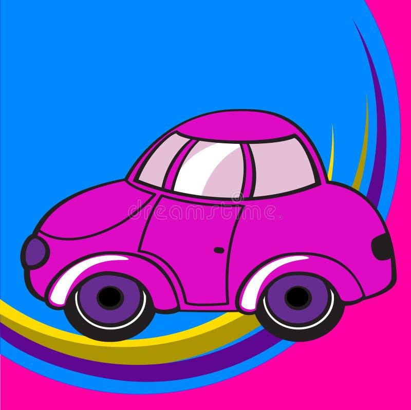 Poca automobile funky illustrazione di stock
