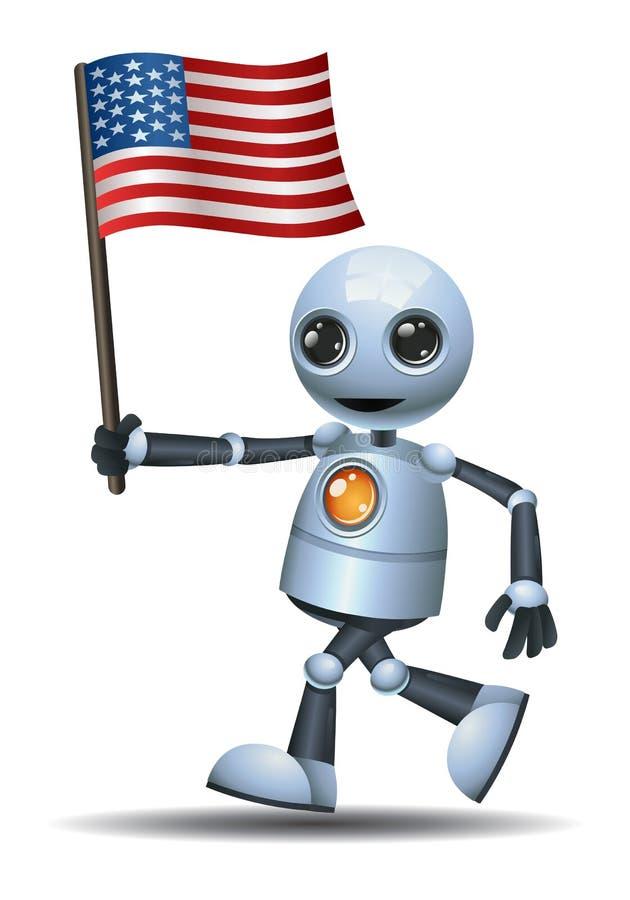 Poca bandera de los E.E.U.U. del control del robot libre illustration