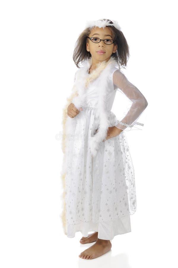Poca bellezza nera nel bianco fotografia stock libera da diritti
