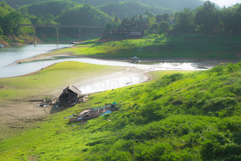 Poca cabina in Sangkhlaburi fotografia stock