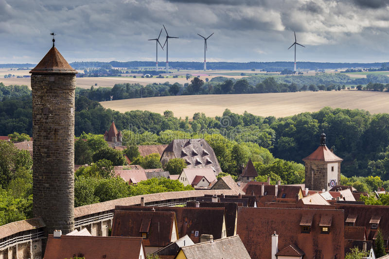 Poca città in Germania fotografie stock