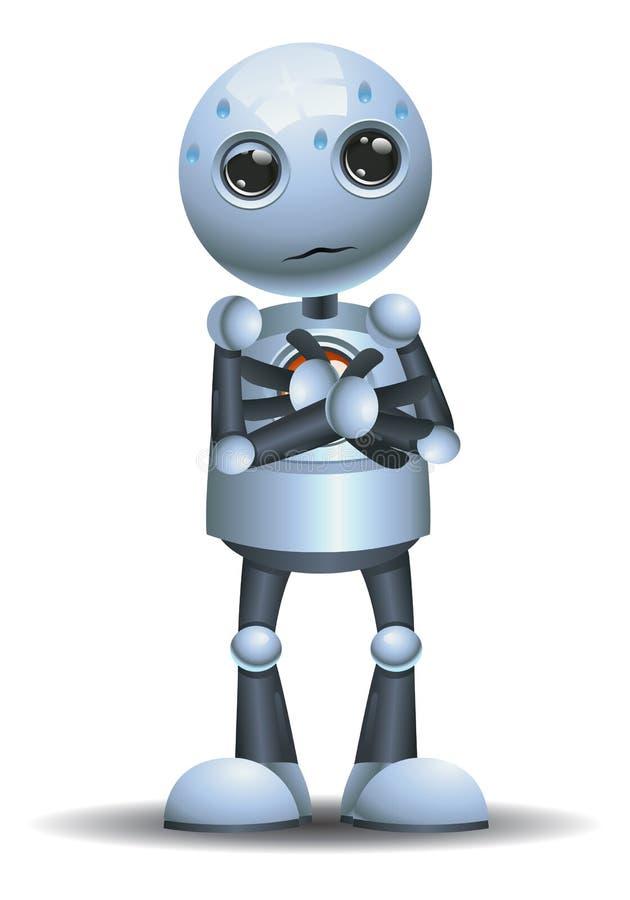 Poca emoción del robot en nervioso stock de ilustración