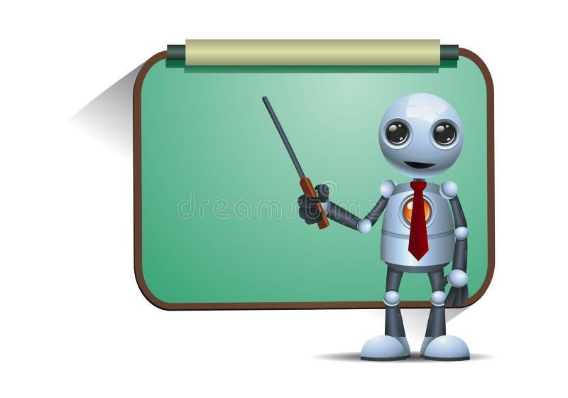 Poca enseñanza del profesor o del profesor del robot libre illustration
