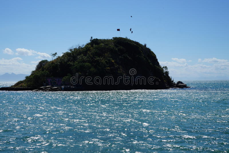 Poca isla en el Brasil foto de archivo
