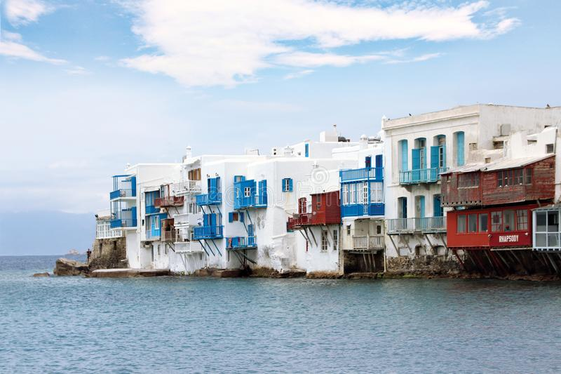 Poca isola di Venezia Mykonos fotografie stock libere da diritti