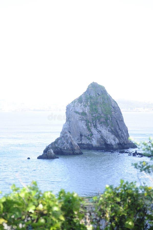 Poca isola sotto il ponte fotografie stock