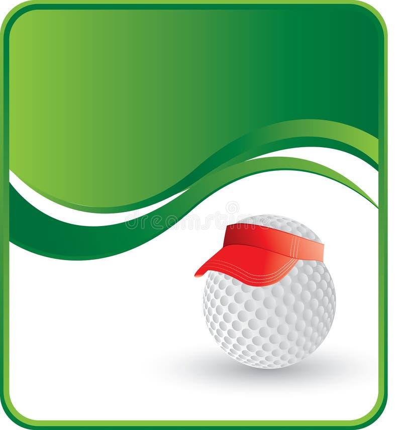 Poca pelota de golf con el visera libre illustration