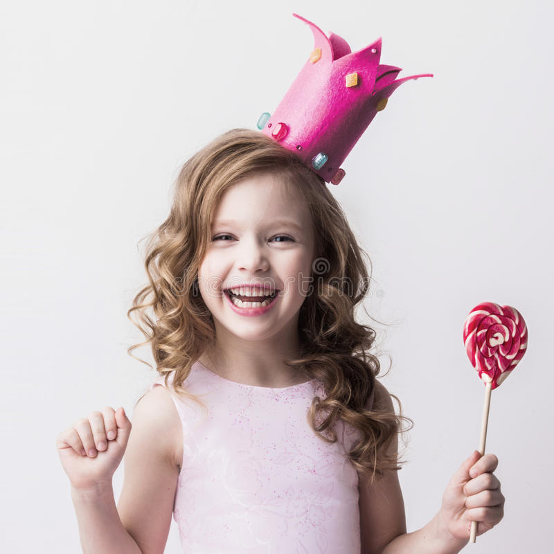 Poca princesa del caramelo fotografía de archivo