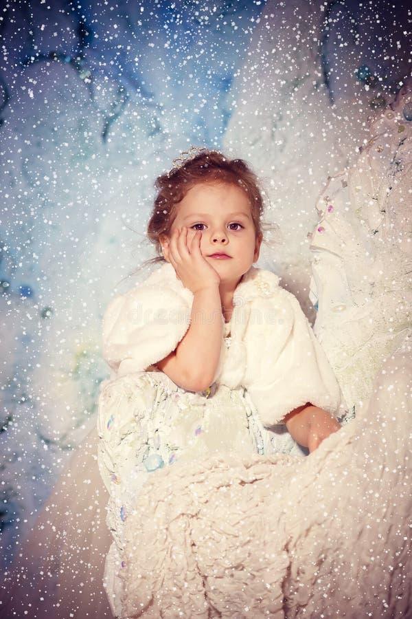 Poca princesa del invierno foto de archivo libre de regalías