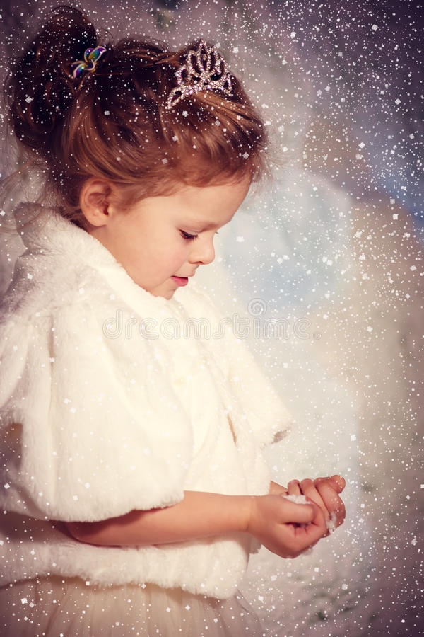 Poca princesa del invierno fotografía de archivo libre de regalías