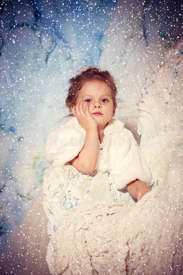 Poca principessa di inverno fotografia stock libera da diritti