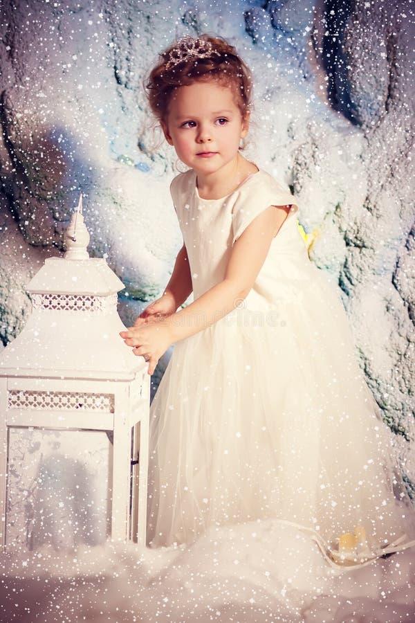 Poca principessa di inverno immagini stock libere da diritti