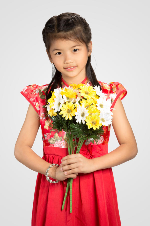 Poca ragazza cinese fotografia stock libera da diritti