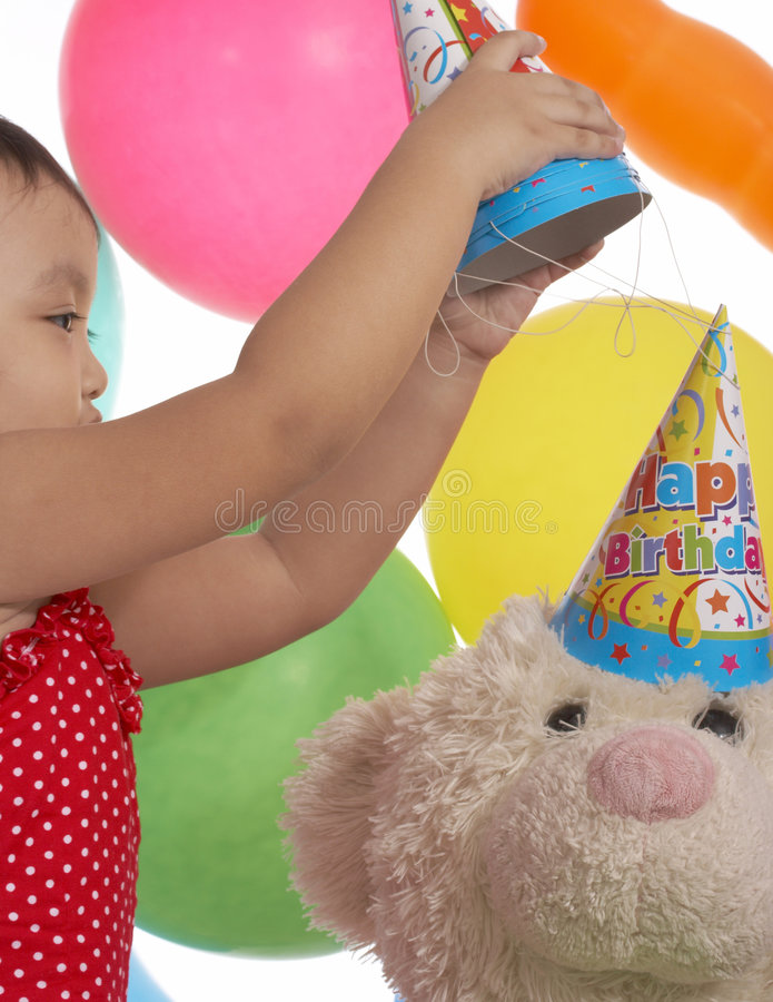 Poca ragazza di compleanno fotografia stock
