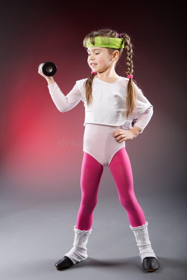 Poca ragazza di forma fisica fotografia stock