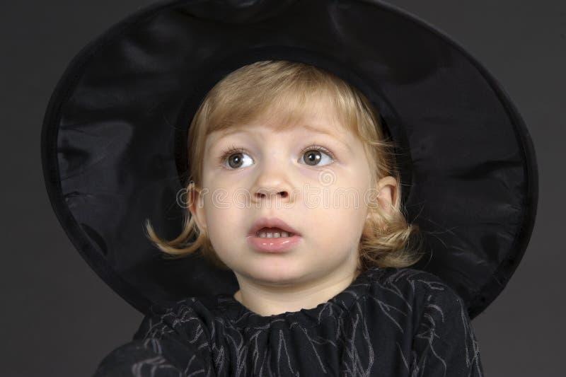 Poca strega di Halloween fotografia stock