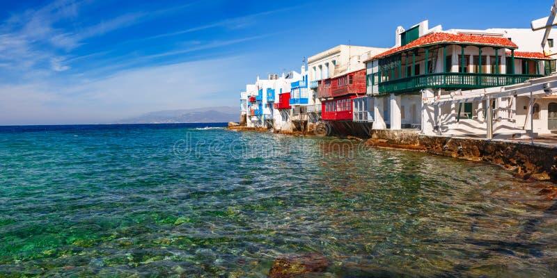 Poca Venecia en la isla Mykonos, Grecia imagen de archivo
