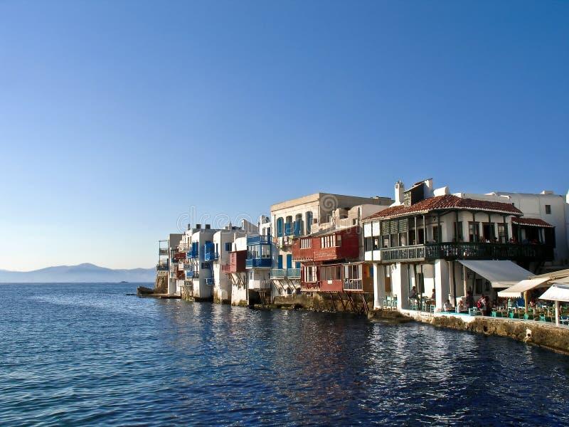 Poca Venecia, Mikonos, Grecia foto de archivo