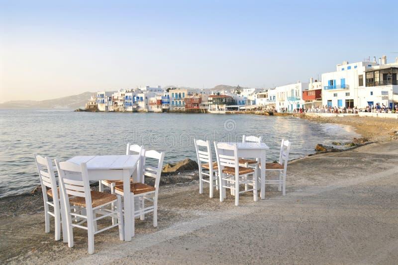 Poca Venezia, Mykonos, Grecia fotografie stock