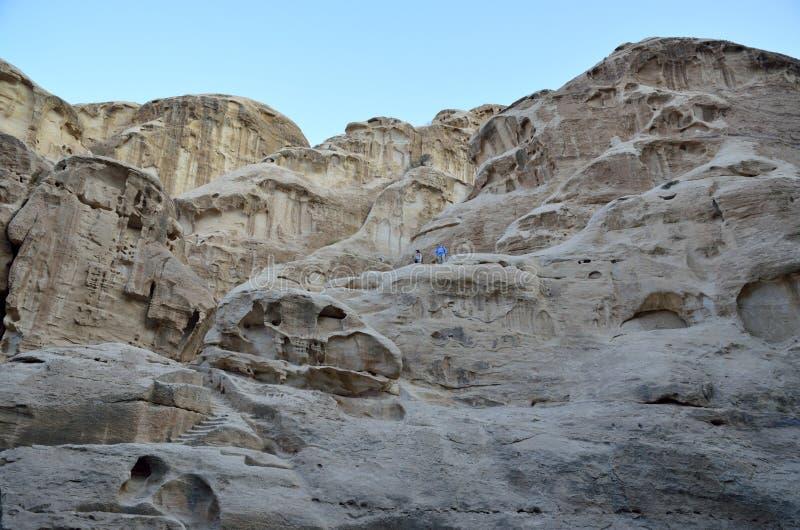 Pocas rocas del Petra, Jordania fotografía de archivo libre de regalías