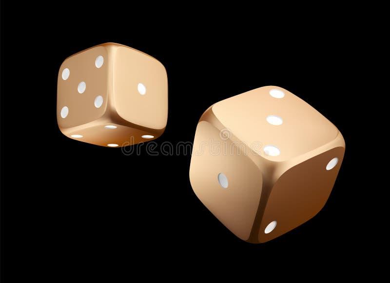 Pocer模子 金黄白色模子看法  赌博娱乐场在黑背景的金模子 网上在黑色隔绝的赌博娱乐场模子赌博的概念 向量例证