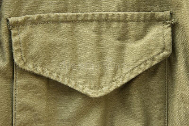 Poche d'uniforme militaire photographie stock