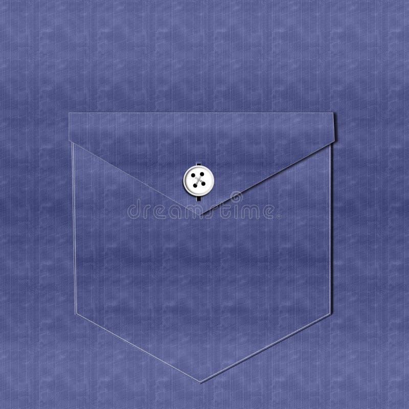 Poche de chemise de denim - fond illustration de vecteur
