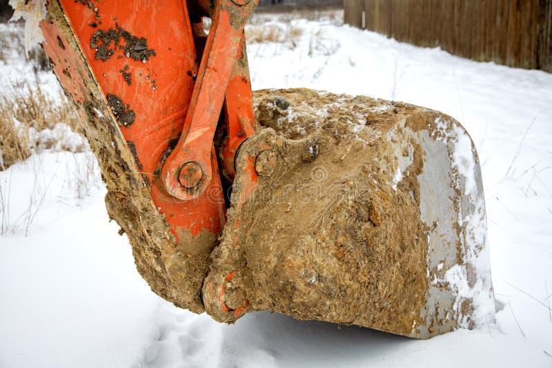 Poche de drague pendant l'hiver photos stock