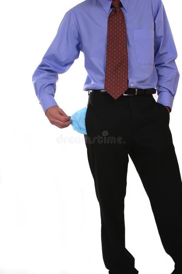Poche vide de l'homme d'affaires un photographie stock
