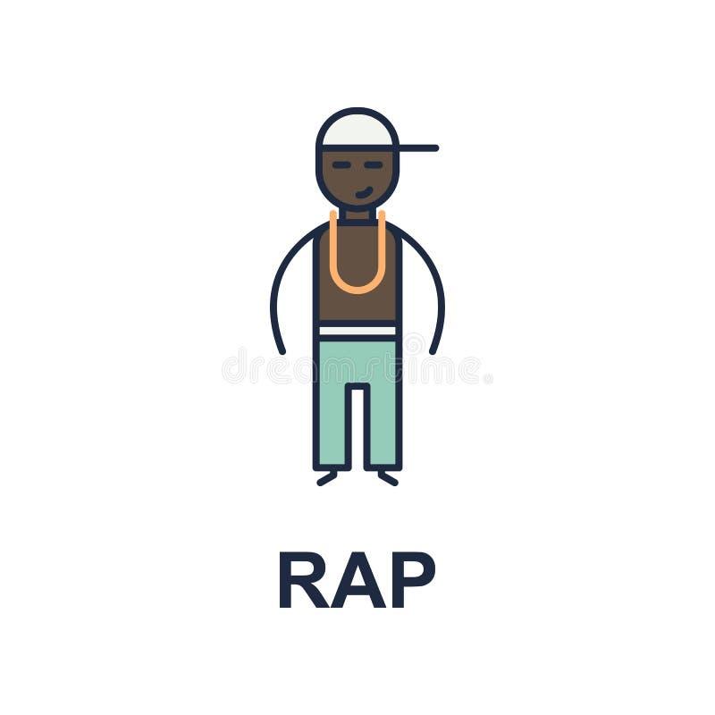 Pochenmusikerikone Element der Musikartikone für bewegliche Konzept und Netz apps Farbige Rap-Musik-Artikone kann für Netz a benu lizenzfreie abbildung