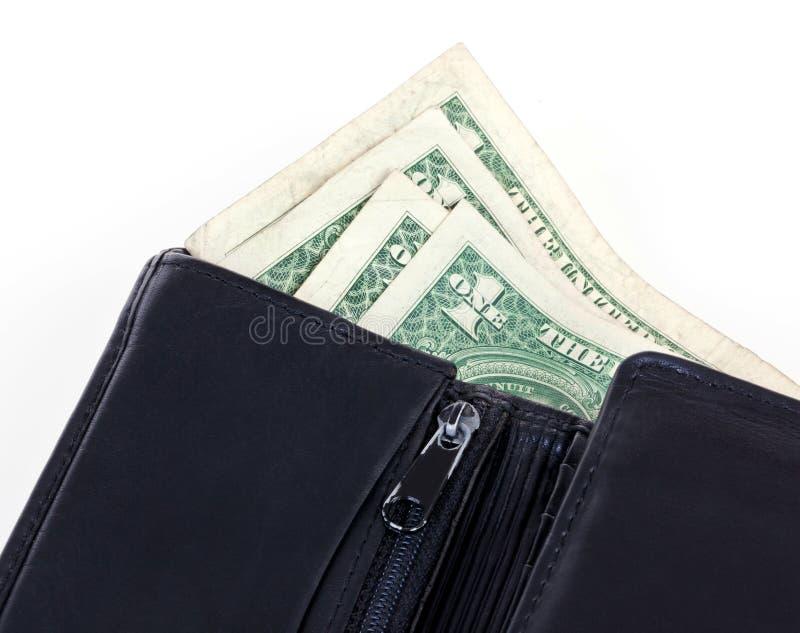 Pochette avec de l'argent photo libre de droits