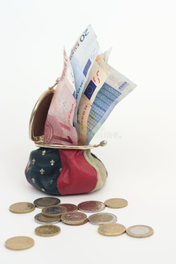 Pochette avec Money1 photographie stock libre de droits