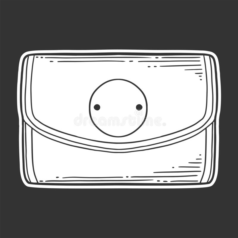 pochette Concept de vecteur dans le style de griffonnage et de croquis illustration de vecteur