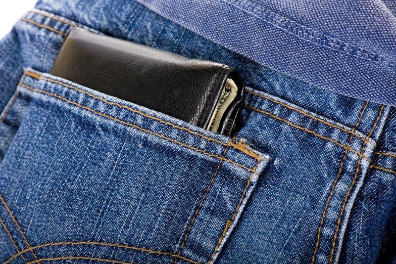 Pochette dans la poche arrière photographie stock libre de droits