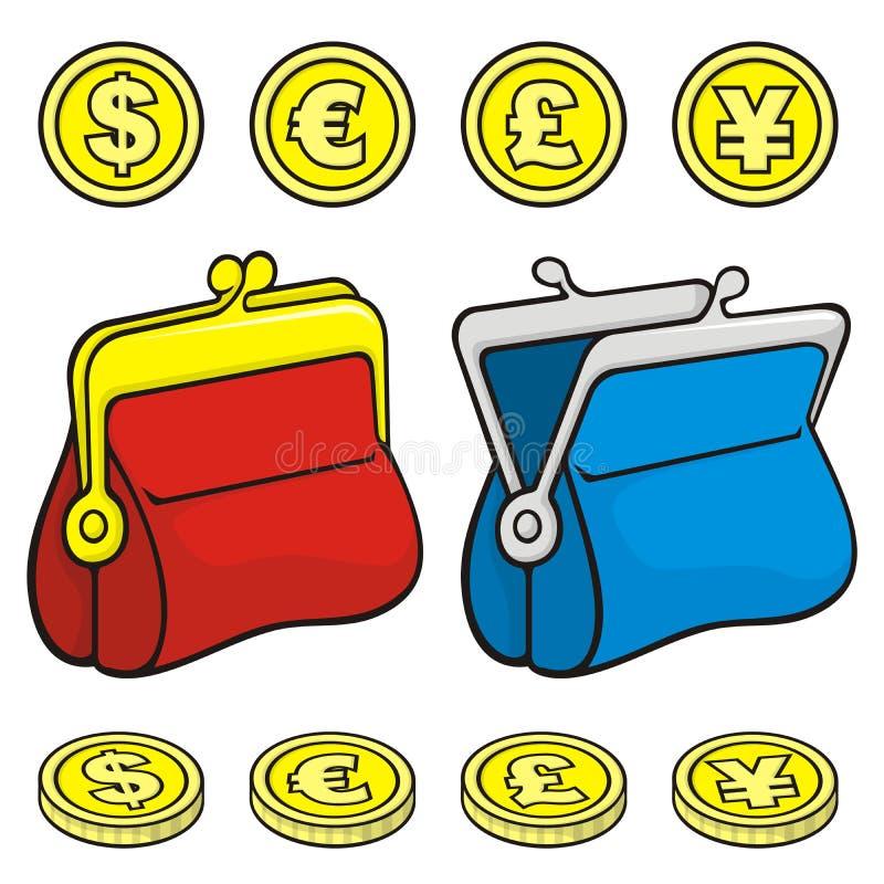 Pochette de bourse de pièce de monnaie illustration de vecteur