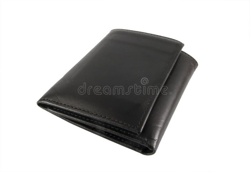 Pochette en cuir noire photos stock