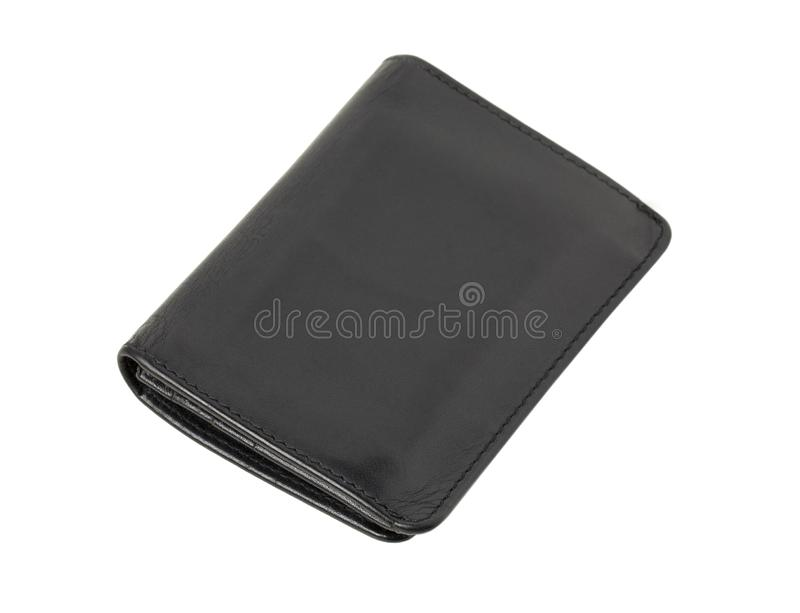 Pochette en cuir noire images stock