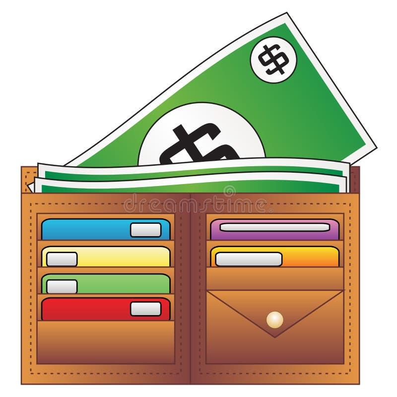 Pochette et argent illustration stock