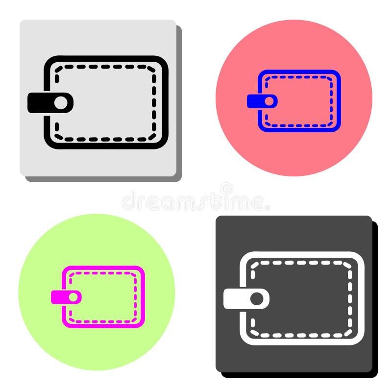 pochette Icône plate de vecteur illustration stock