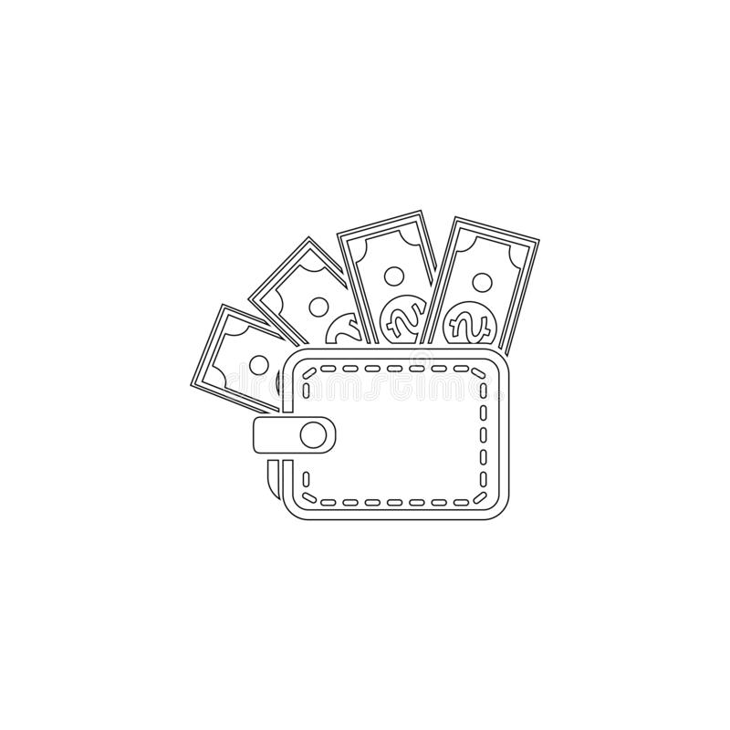 pochette Ic?ne plate de vecteur illustration stock