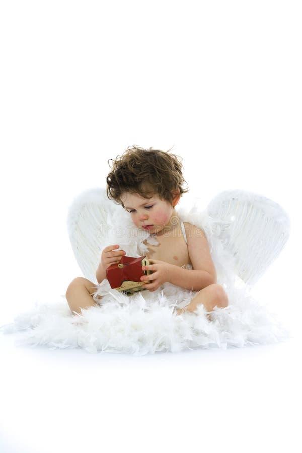 Download Pochi angelo e casa immagine stock. Immagine di casa, fuoco - 3880205