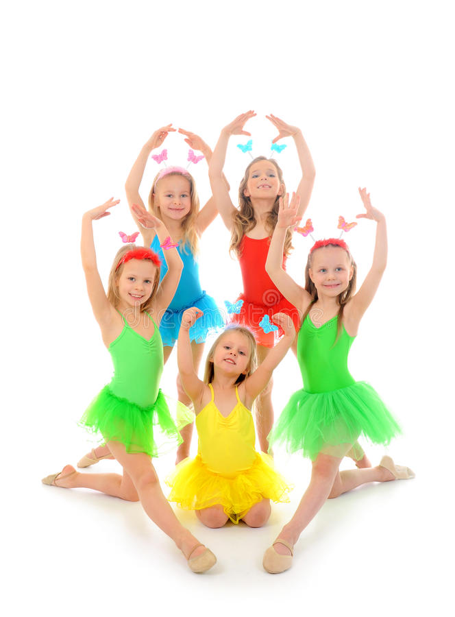 pochi ballerini di balletto fotografia stock libera da diritti